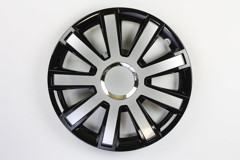 ZentimeX Z731756 Radkappen Radzierblenden universal 14 Zoll black silver