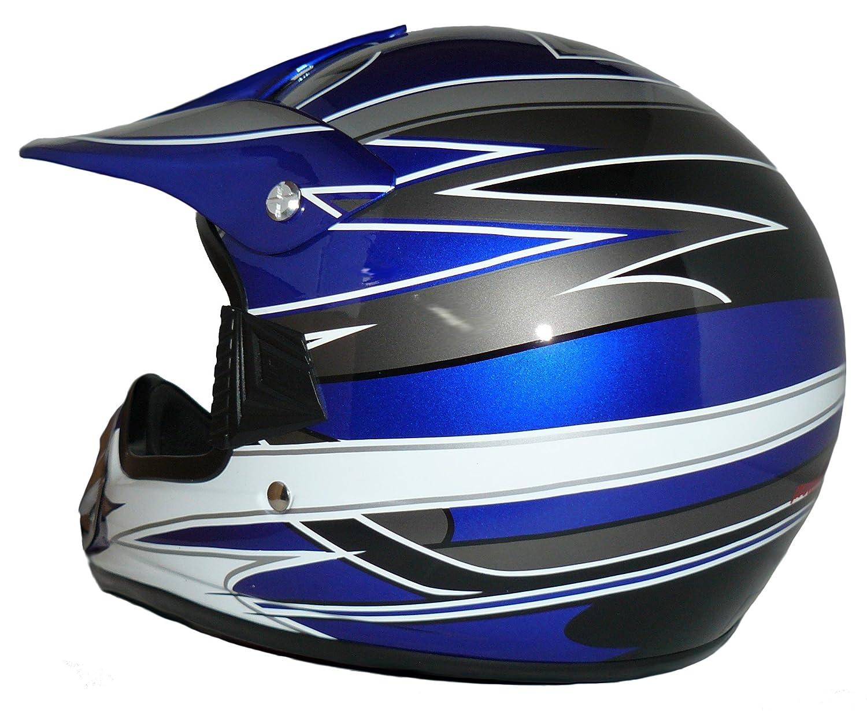 Protectwear Ni/ños Casco Cross MaX Racing azul brillante V310-BL Tama/ño XS 53//54 cm juventud L