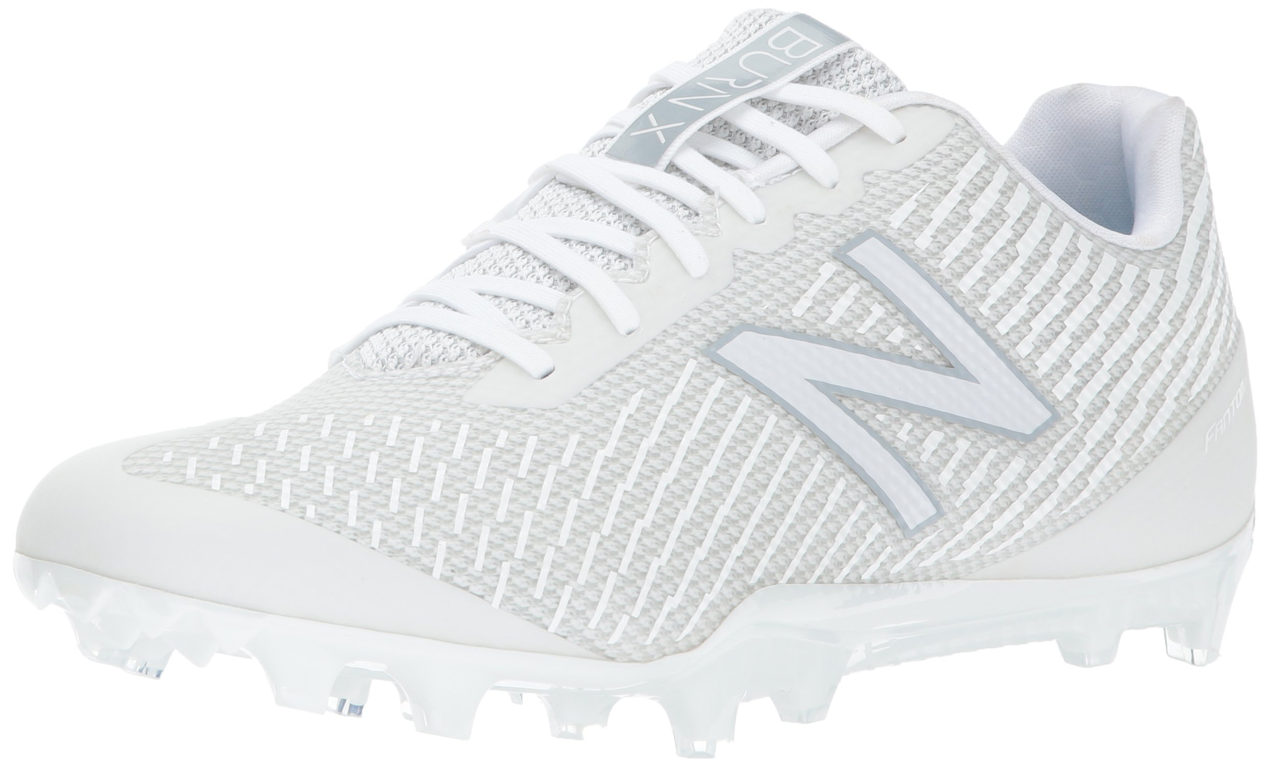 New Balance Men's Burn Low Speed Lacrosse Shoe, White, 11 D US by New Balance