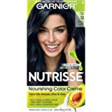 Garnier Nutrisse Nourishing Hair Color Creme, 12 Natural Blue Black (Packaging May Vary)