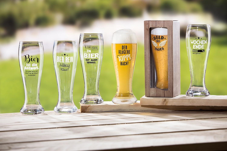 Weizen St/ückpreis Krug In Vino Veritas In Bier ist auch sowas In Bier ist auch sowas H/öhe 23 cm F/üllmenge: 500 ml 1 x Weizenglas Glas Spruch: In Vino Veritas.. Geschenk Alkohol