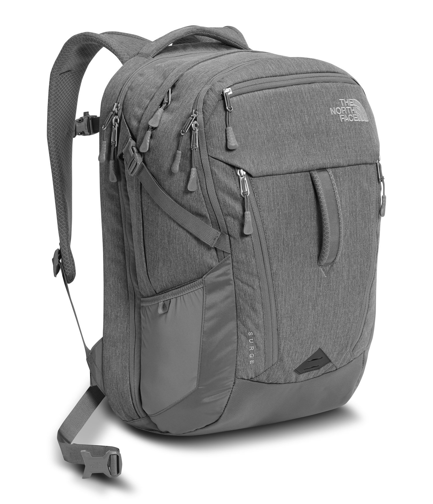 The North Face Surge Laptop Backpack- Sale Colors (Tnf Medium Grey Heather/Zinc