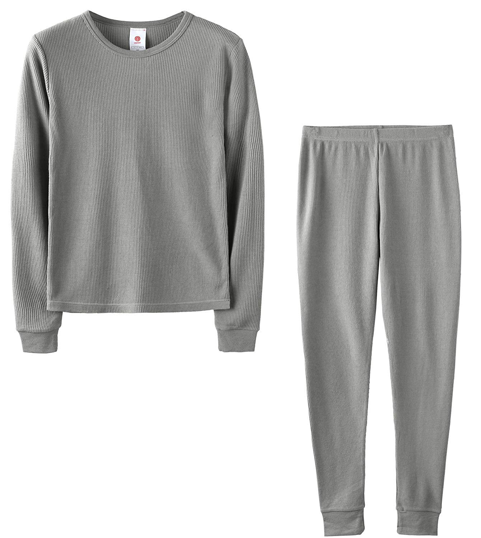 LAPASA Boys Thermal Underwear Long John Set Waffle Knit Base Layer Top and Bottom B06