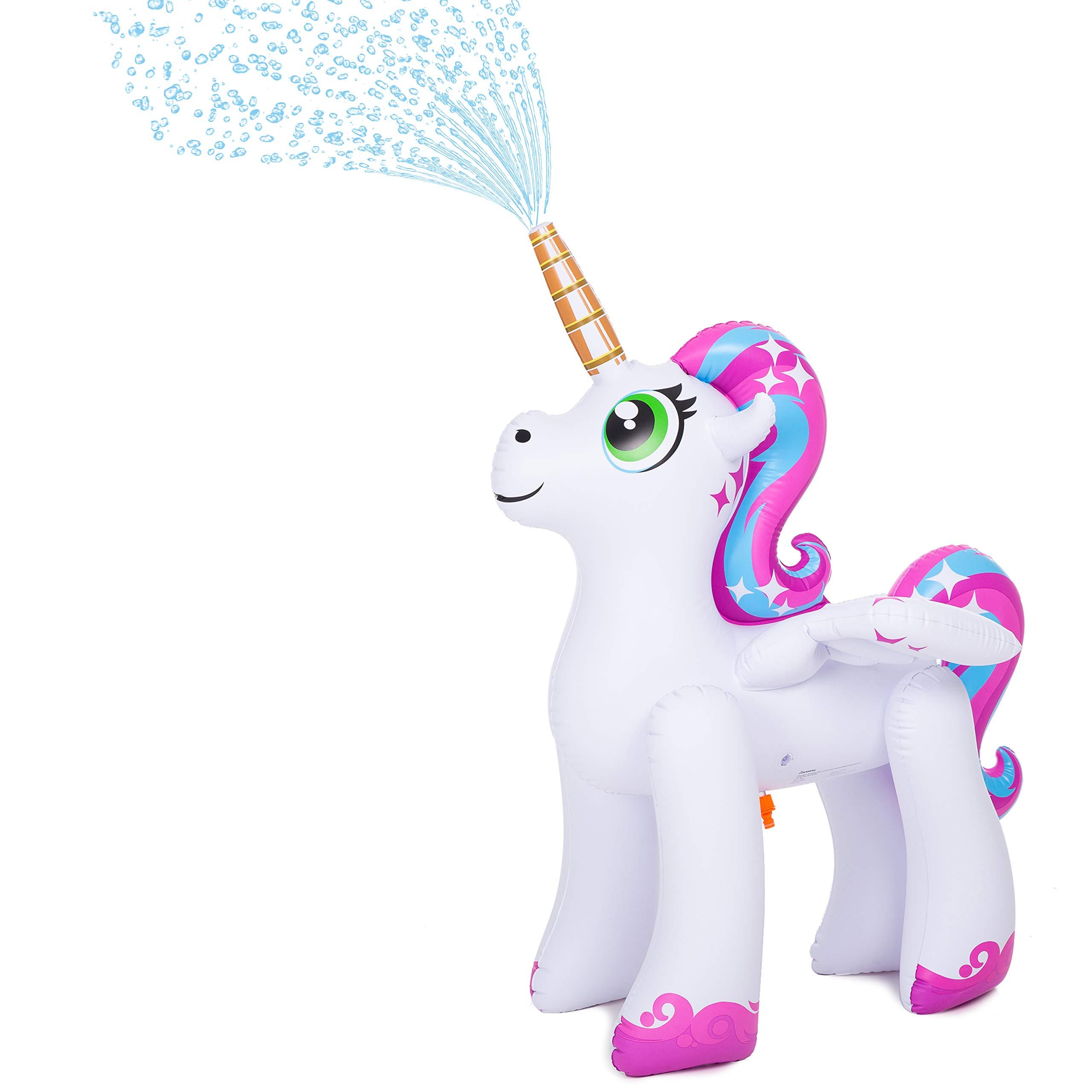 JOYIN Inflatable Unicorn Yard Sprinkler, Alicorn/ Pegasus Lawn Sprinkler for Kids (4 Feet) by JOYIN