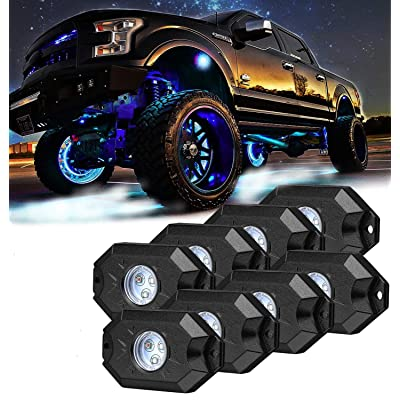 8 pc White Heavy Duty Rock Lights Undercarriage, Bed light,exterior interior,boat,Rzr,pods: Automotive