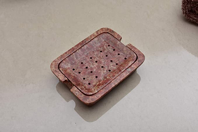 Kunhar Natural Marble Soap Dish for Bathroom/Marble Soap Dish for Bath Tub/Marble Soap Dish for Wash Basin Beautifully Crafted Bathroom Accessory