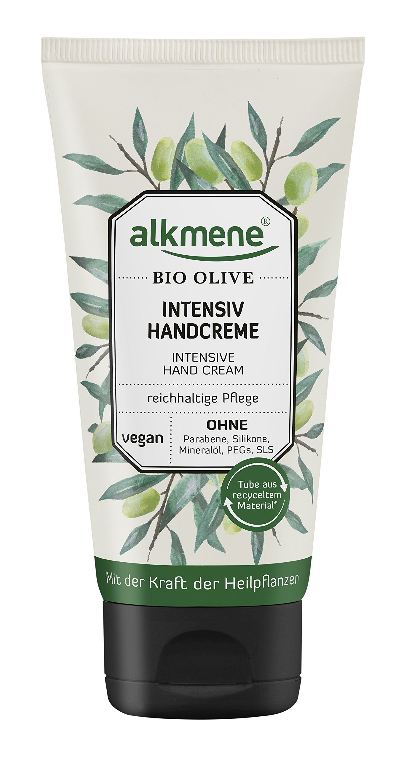 Alkmene Intensive Organic Olive Oil Hand Cream Vegan Paraben-free & Organic Cream for Very Dry Hands 75 ml