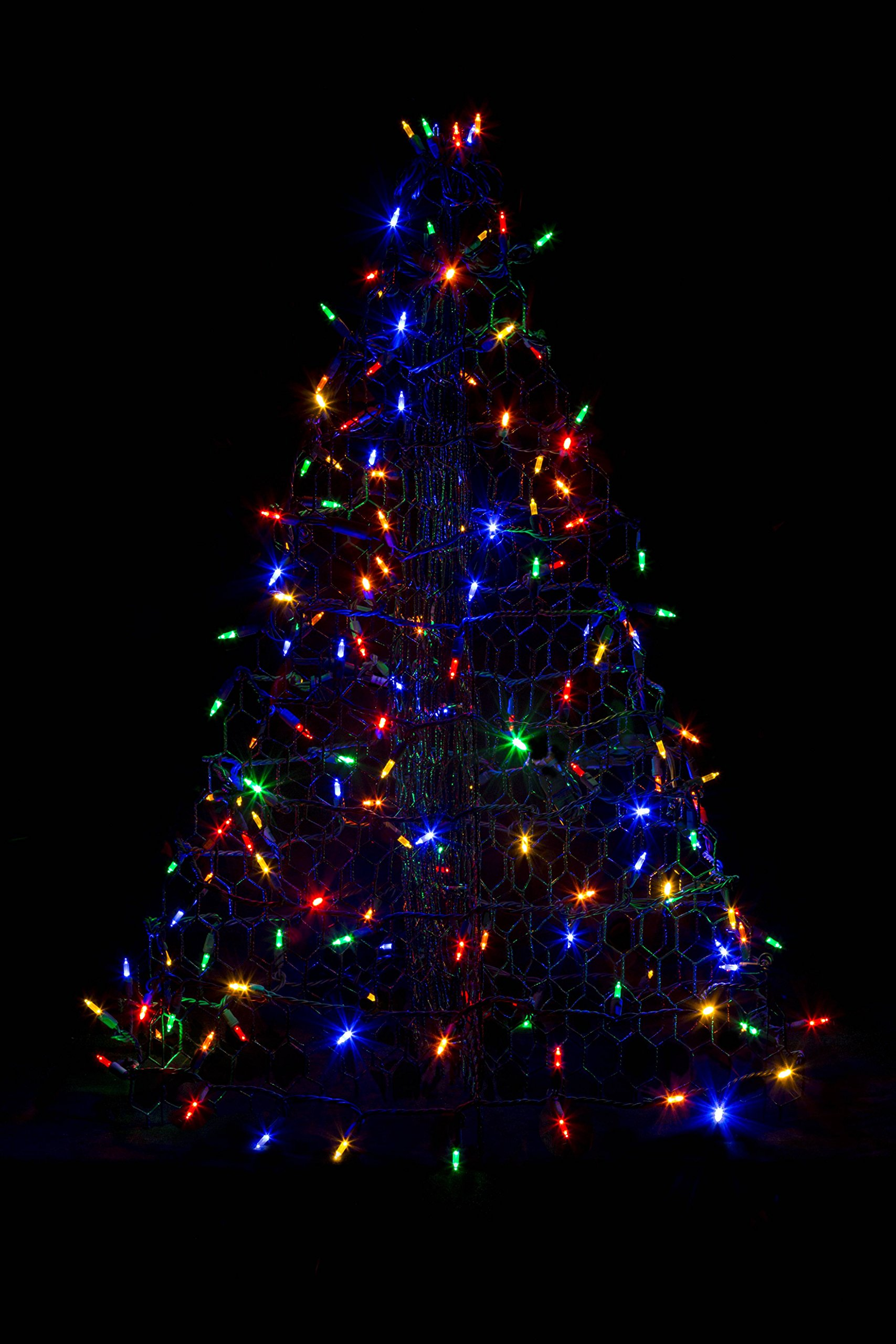 3' Crab Pot Christmas Tree with 160 Multicolor LED Mini Lights by Crab Pot Christmas Trees