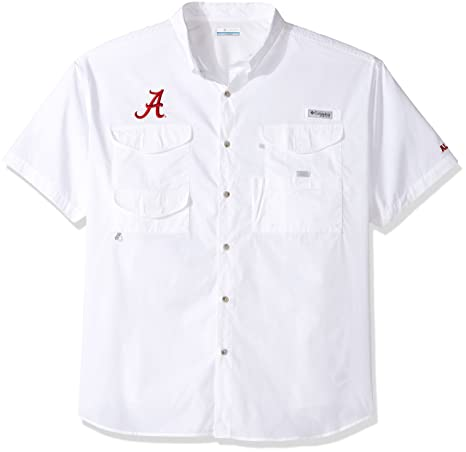 ea26bac2521 NCAA Alabama Crimson Tide Men's Collegiate Bonehead Short Sleeve Shirt,  White, 1X Big &