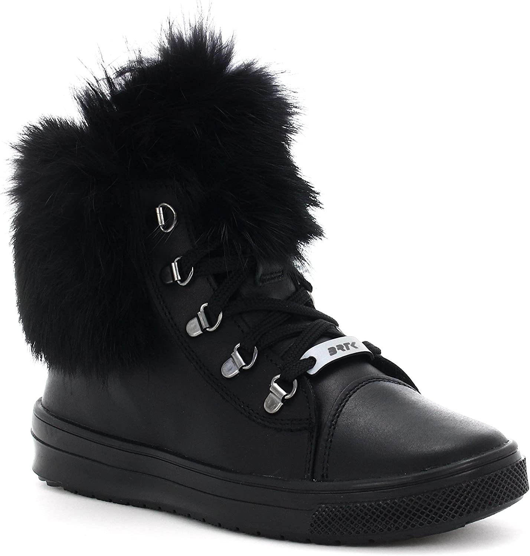 Bartek Girls Leather Shoes Ankle Boots 14364//L9 Opal Black Little Kid//Big Kid