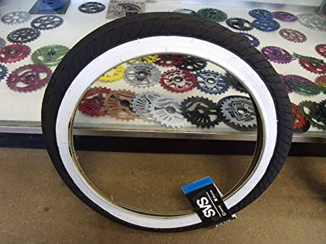 Duo SVS 20quot X 225quot Black Whitewall Wirebead Bicycle Tire