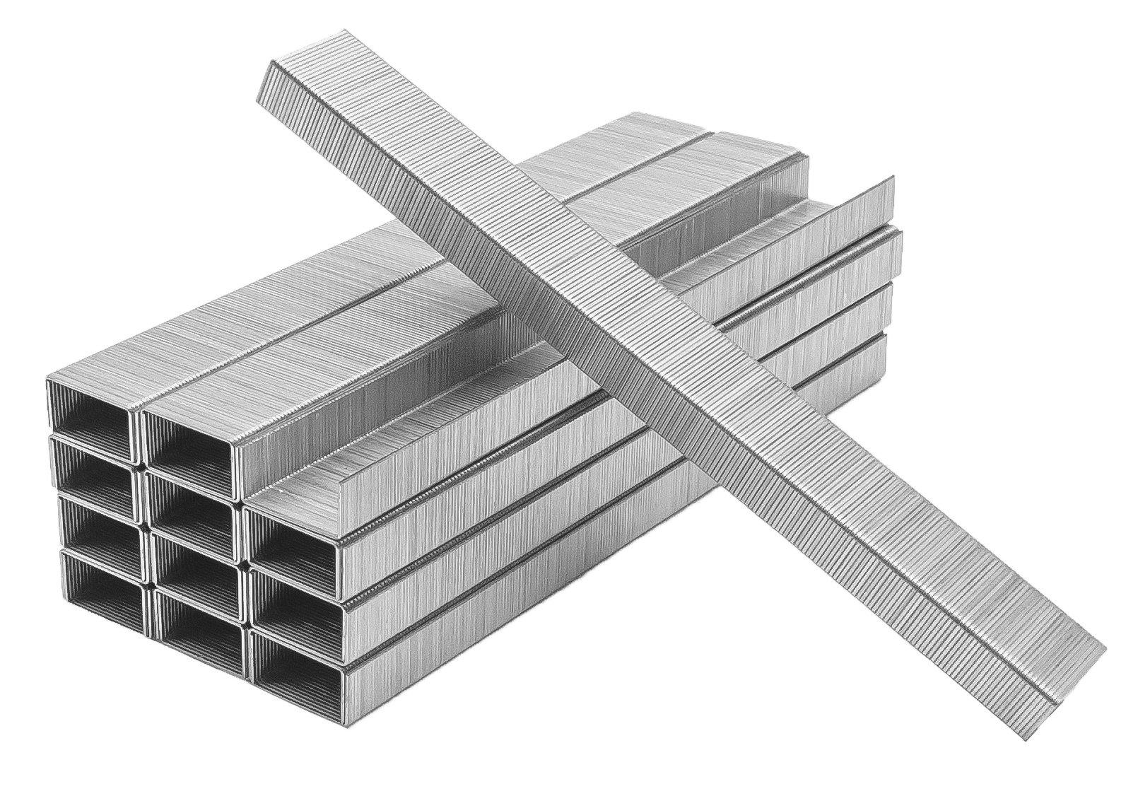 Premium Standard Staples, Full Strip, Size (26/6) Silver, 25000 total staples, PraxxisPro Office Supplies