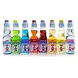 Shirakiku Ramune Japanese Soda, Variety Pack, 8 Glass Bottles (Tamaño: 8 Pack)