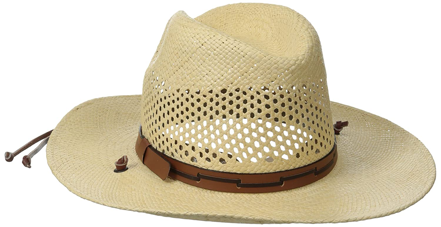 88df9a4b Stetson Men's Stetson Airway Vented Panama Straw Hat at Amazon Men's  Clothing store: