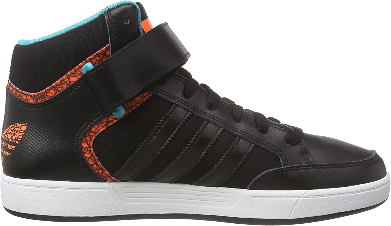 Adidas Herren Varial Mid High-Top Schwarz Core Black Ftwr White Solar Orange