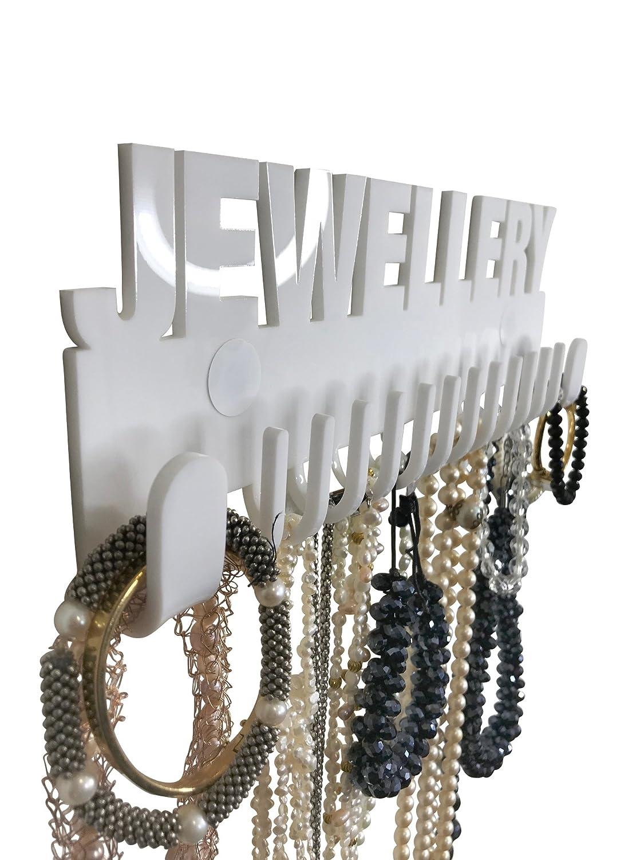 Organizador de collar Galeara design blanco pared