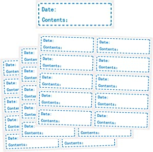 500 Pieces Removable Freezer Labels,Refrigerator Label, Easy Clean Leaves No Residue,1 x 3 Inch Food Storage Labels (Blue)