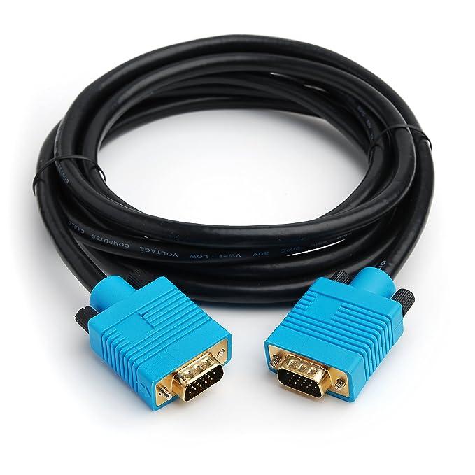 1 opinioni per CPO-Cavo VGA placcato in oro, Cavo SVGA HD per Monitor, colore: nero e Blu