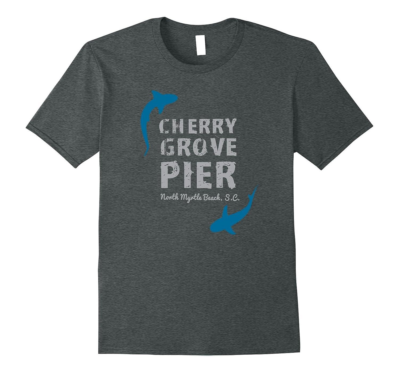 Cherry Grove Pier North Myrtle Beach S.C. Fish Shark Shirt-BN