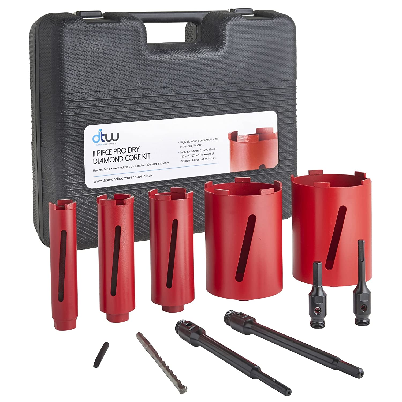 65mm x 150mm DTW Dry Diamond Core Drill Bit Plumbers//Builders Premium Segment Hole Cutter