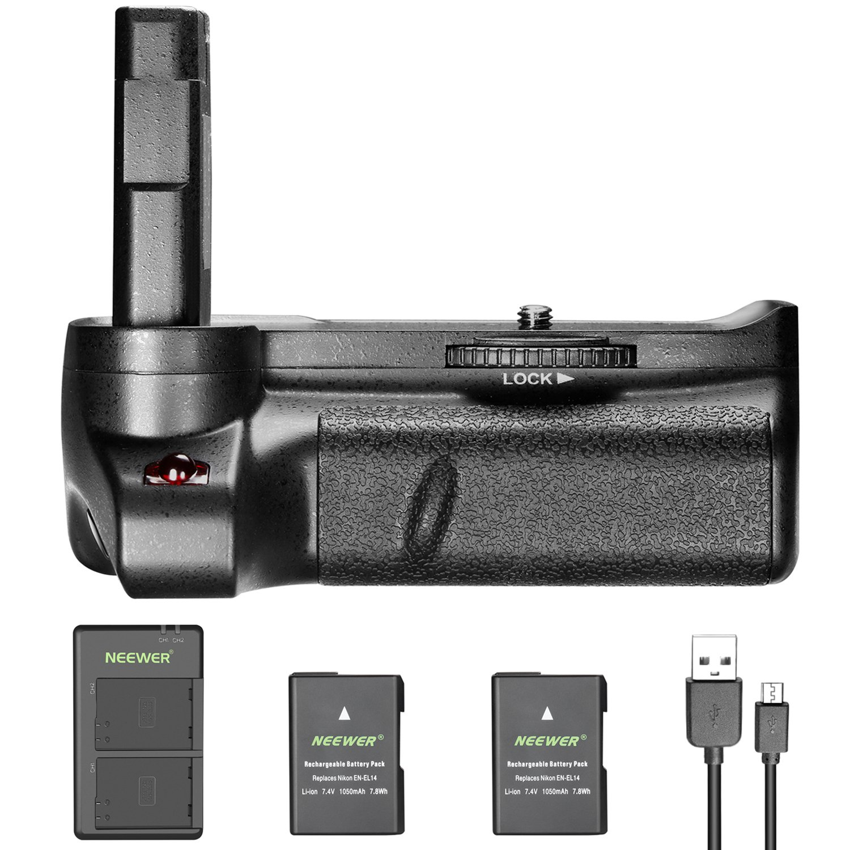 Bateria Grip Neewer Nikon D3400 + 2 1050mah En-el14