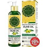 Morpheme Remedies Organic Extra Virgin Olive Oil (Pure ColdPressed Oil) For Hair, Body, Skin Care, Massage, Eyelashes 120 ml