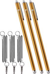 Fenix - Set of 3 Gold XXL Extra Long Stylus Pen [7.3