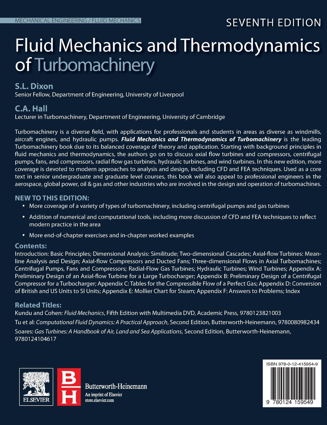 fluid mechanics and thermodynamics of turbomachinery amazon co uk rh amazon co uk