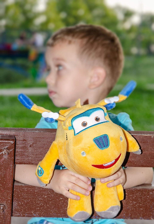 Dizzy o Donnie para ni/ñas y ni/ños Donnie, amarillo Jerome jugar y abrazar Jett Super Wings 26 cm Aeroplano Felpa Figuras Animales de peluche para coleccionar