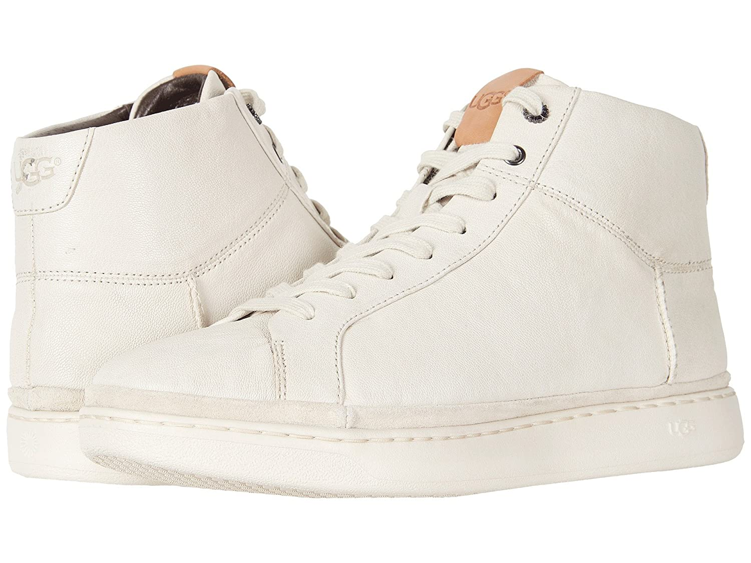 [UGG(アグ)] メンズレースアップシューズスニーカー靴 Brecken Lace High Parchment Leather 9 (27cm) D - Medium B07DP85WWX