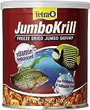 Tetra JumboKrill Freeze-Dried Jumbo Shrimp 3.5 Ounces, Natural Shrimp Treat For aquarium Fish, red (16198)