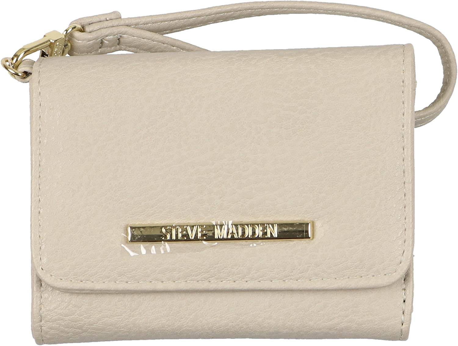 Steve Madden Women S French Wristlet Tri Fold Wallet Bisque Amazon Co Uk Shoes Bags