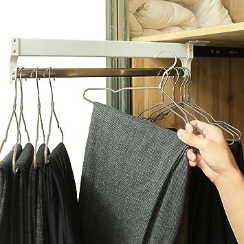 Amazon.com: Extendable Closet Valet Rod Retractable Pants Rack AINGER(13.7  Inches): Home U0026 Kitchen