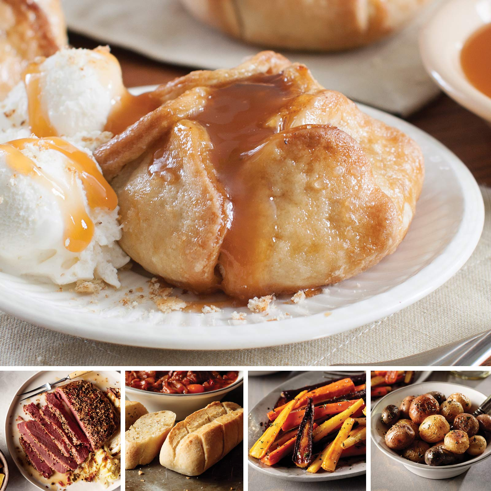 Omaha Steaks All Included St. Patrick's Day Essentials (11-Piece with Corned Beef Roast, Potatoes in Brown Butter Sauce, Glazed Carrots, Mini-Baguettes with Garlic Butter, and Caramel Apple Tartlets)