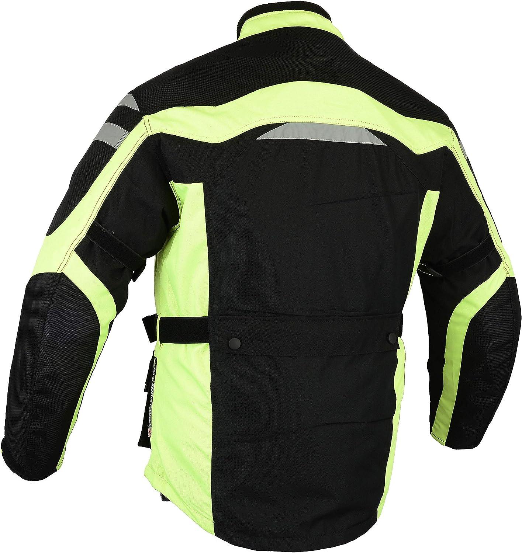 XL, Schwarz Motorrad Jacke Cordura Textil BOSmoto Herren Motorradjacke mit Protektoren und Reflektoren wasserdicht Winddicht