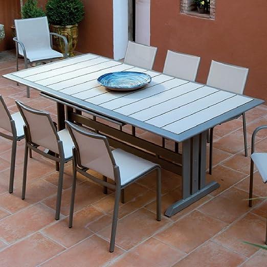 Table rectangulaire HEGOA avec pied central, muscade/lin ...