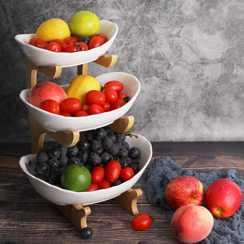 Kitchen Craft 15 X 20 X 25 X 37 Cm,Silver Moderner 3 St/öckig Obst Etagere Keramik Schwarz K/üchenampel F/ür Mehr Platz Auf Der Arbeitsplatte