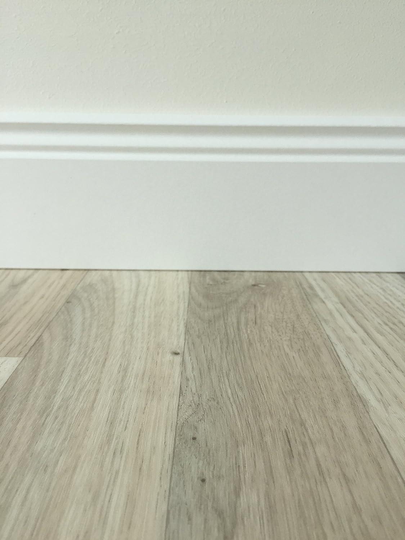 PVC-Bodenbelag Holzoptik feine Holzstruktur Hellgrau Stark strapazierf/ähiger Fu/ßboden-Belag Made in Germany Fu/ßbodenheizung geeignet e PVC Planken Vinylboden in 2m Breite /& 3,5m L/änge