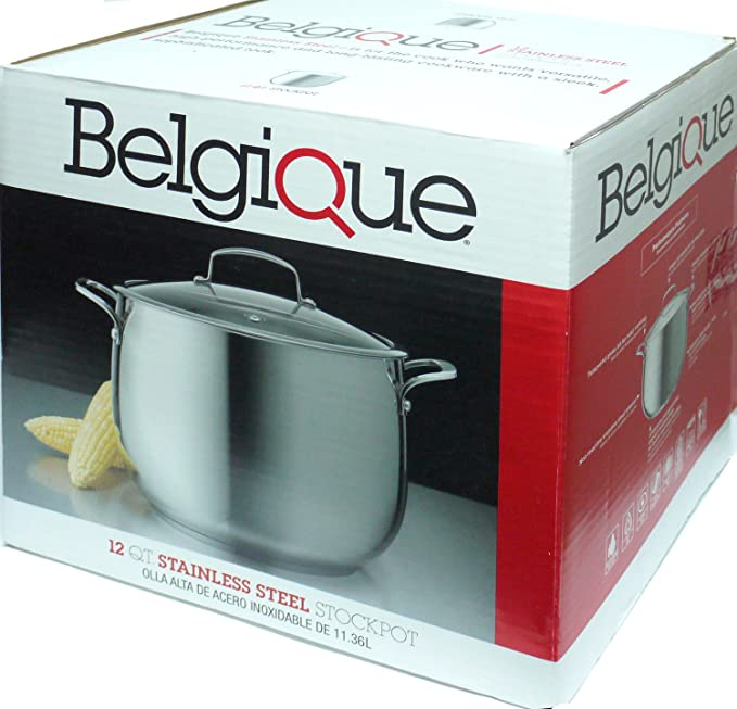 Amazon.com: Belgique 12 Qt. Stainless Steel Stock pot: Stockpots: Kitchen & Dining