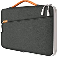 "JETech Funda Portátil Impermeable Compatible 13,3"" Notebook Tableta iPad Tab con asa Portátil, Sleeve Compatible con MacBook Pro de 13"", MacBook Air, Surface Pro de 12.3"", Surface Laptop 2017/2018, Gris oscuro"
