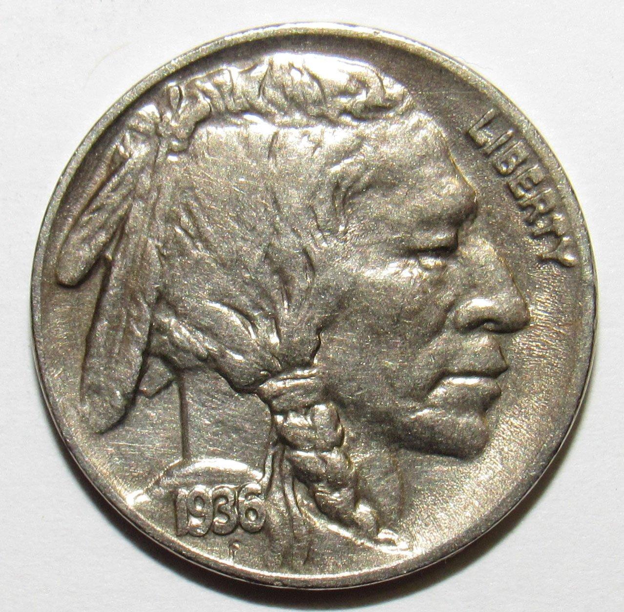 1935 P Buffalo Nickel 5c XF-AU