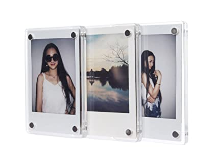 4fcc4e61307c Image Unavailable. Image not available for. Color: CAIUL Compatible Clear  Acrylic Fridge Magnetic Frame ...