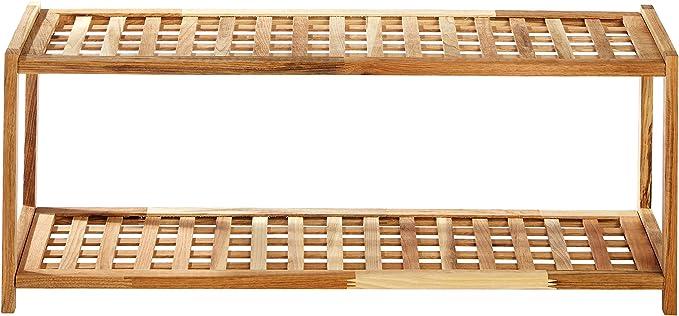 Premier Housewares - Zapatero (2 estantes, Madera, 30 x 79 x 26 cm): Amazon.es: Hogar