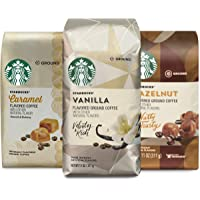 Starbucks Flavored Ground Coffee — Variety Pack — No Artificial Flavors — 3 bags (11 oz. each)