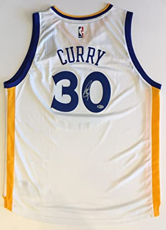 8f5a3fbaf Stephen Curry Autographed Golden State Warriors Jersey - white. Signed  private autograph session. Beckett