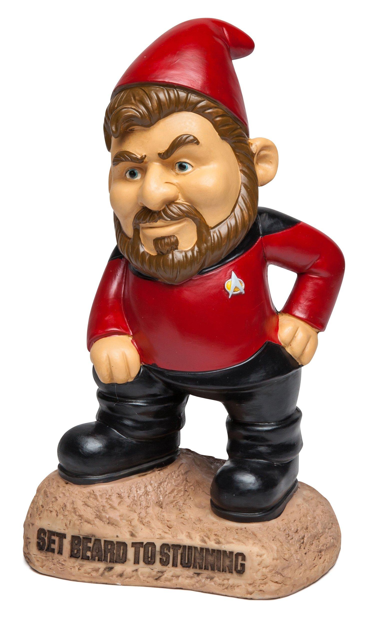 BigMouth Inc Star Trek Garden Gnome, Riker Statue, Set Beard to Stunning Saying, Star Trek Lawn Decor, Outdoor Statue …