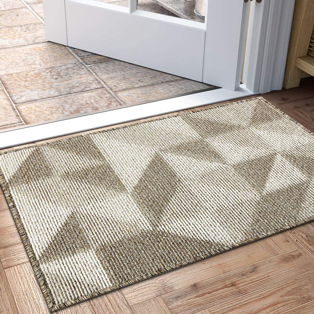 Dexi Indoor Doormat Non Slip Absorbent Resist Dirt Entrance Rug 24 X36 Machine Washable Low Profile Inside Floor Door Mat Garden Outdoor Amazon Com