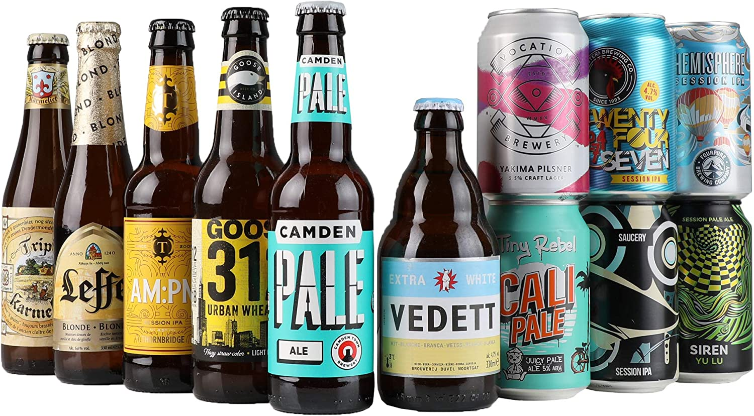 Craft Beer Introductory Mixed Case By Beer Hawk, 12 each: Amazon ...