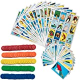 Loteria Mexican Bingo Game Kit - Loteria Mexicana Bingo Game for 20 Players - Includes 1 Deck of Cards and Boards - with 100