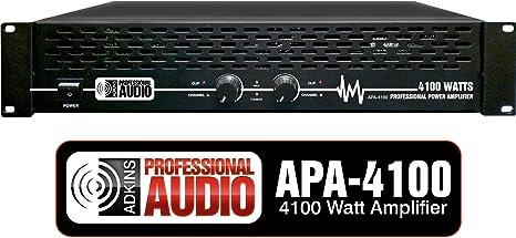 Amazon.com: Amplificador de potencia DJ profesional de 4100 ...
